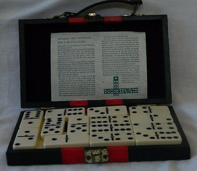 Retro Collectable Dominoes Game In Case VGC