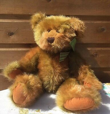 """Ross 16"""" Brightley Bear Fully Jointed Bronze Sparkle Fur Rare Collectable"""