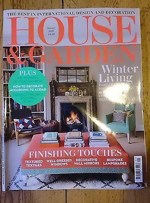 House & Garden Magazine January 2016 Interior Design Lifestyle