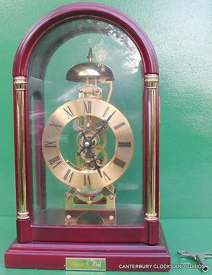 Vintage Mappin & Webb 8 Day Two Train Skeleton Mantle Clock Serviced