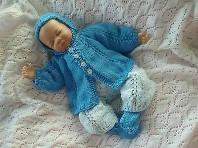 Hand Knitted Reborn Baby Dolls Clothes Newborn Or 18-20 Doll