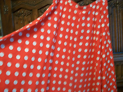 "Vintage 1950s red polka dot circle skirt size XL size 18 36"" waist used"