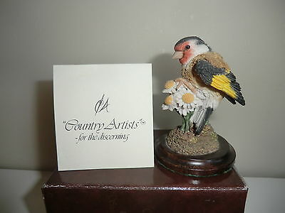 Country Artists Golden Days Gold Finch / Bird Ornament - Boxed