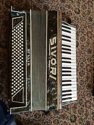 Sivori Vintage Accordion Made In Italy Appears To Be In Working Order.