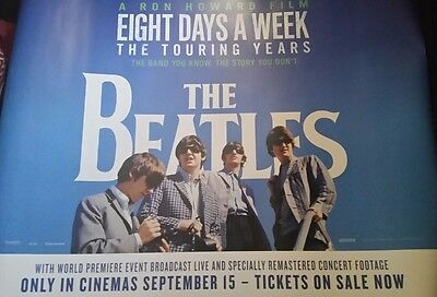 The Beatles Eight Days A Week The Touring Years Original Uk Quad Poster
