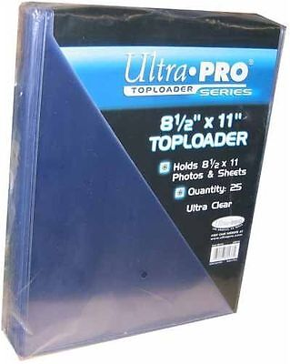 Ultra Pro 8.5 X 11 - Topload Holder (25ct pack)