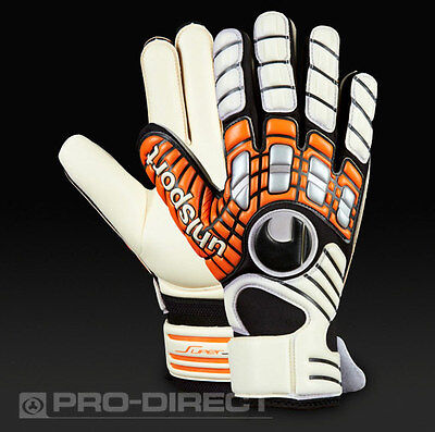 Brand new Uhlsport Akkurat Supersoft Size 10 Goalkeeper Gloves RRP: £45.00