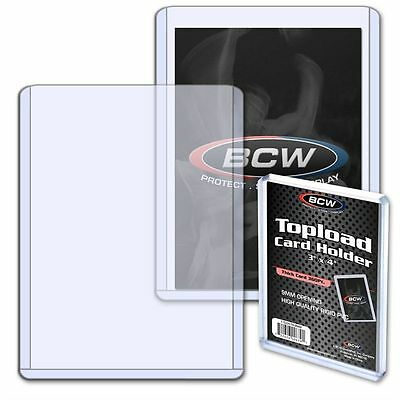 BCW 3x4 x 9mm - Thick Card Topload Holder 360pt