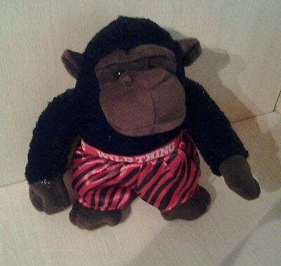 """Brown and Black Monkey Wild Thing Red Boxers 10"""" Plush"""
