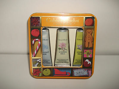 Brand New Crabtree & Evelyn Hand Cream Gift Set In Tin
