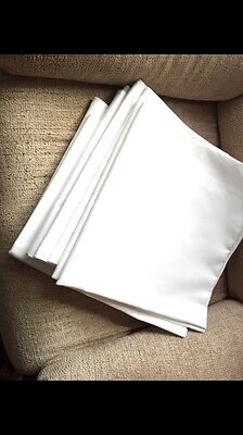 White Linen Table Cloth 52x52 NEW