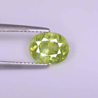 2.50Cts Natural Neon Green Sphene Oval Shape Loose Gemstone