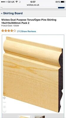 219mm Skirting board (ONLY 1 PIECE)