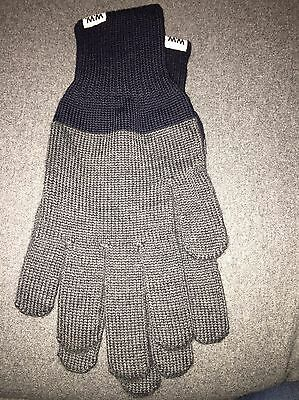 Men's WoodWood Wool Grey And Navy Gloves