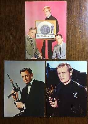 3 Man From Uncle Postcards from Original 1960's TV series