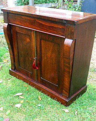 Regency. Rosewood Chiffonier - Sideboard. Feather Stringing. c1820 - 1830.