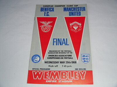1968 EUROPEAN CUP FINAL BENFICA v MANCHESTER UNITED
