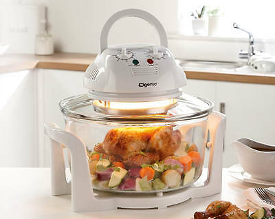 12L Hinged Lid Halogen Convection Oven Cooker cook homemade foods brand new uk!!