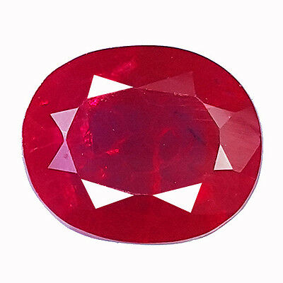6.90 Ct Awesome Blood Red Ruby Oval Shape Lab Created Chathum