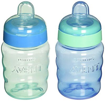 Philips Avent My Easy Sippy Cup, 9 Ounce, Blue/Green, Stage 2 (colors may New