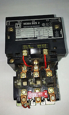 Square Sq D Size 2 Motor Starter Series A Class 8536 Type Sdo 1 W/overload Relay