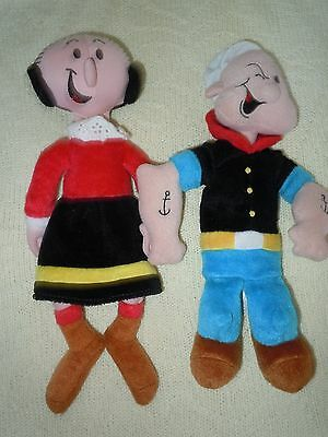 Popeye & Olive Stuffed Plush Doll 1999  Tags 10 inches tall