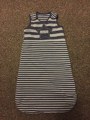 Baby Sleeping Bag 0-6 Months Blue Great Condition 2.5 Tog Striped
