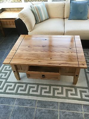 Corona Mexican Solid Pine Coffee Table In Very Good Condition