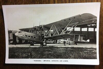 Imperial AIrways Handley Page Airliner Postcard