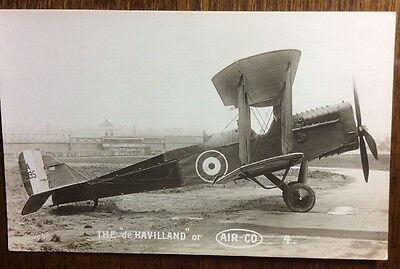 Royal flying corps DH4 Aircraft Postcard