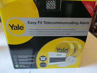 New Yale Easy Fit Kit 2 Wireless Telecommunicating Home Alarm Kit