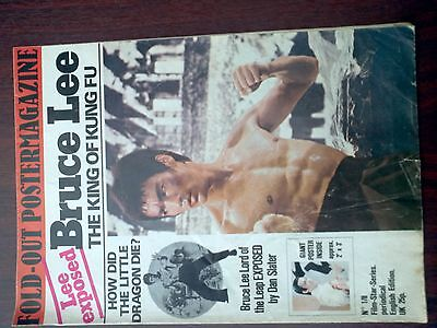 Bruce Lee The King of Kung Fu-fold out poster mgazine by Film-Star-Series no1/8