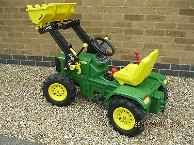Rolly Kids Pedal Toy John Deere Tractor With Loader