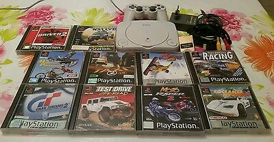 Lot Console Sony Playstation PS one ps1 + 10 jeux