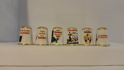 Set of 6 Assorted Guinness Design thimbles