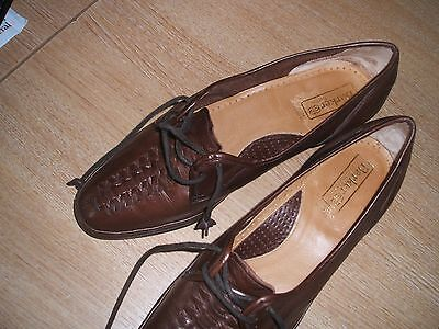 Barker Of Earls Barton Ladies Brown Brogue Leather Shoes - Size 6 - Used