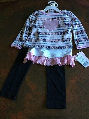 NWT! Girls Little Lass Sweater And Pants Set. Size 4T.