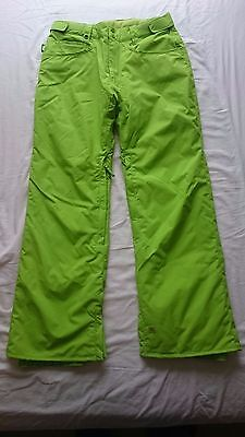 Quicksilver Lime Green Snowboarding/skiing pants (small)