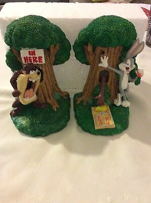 taz/bugs 8inch resin looneytunes bookends