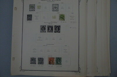 ((661) Argentina on Scott Specialty Pages 1858-1958 Over 650 Diff 65 Pixs