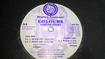 """12"""" garage colours what you do ice cream records stephen emmanuel"""