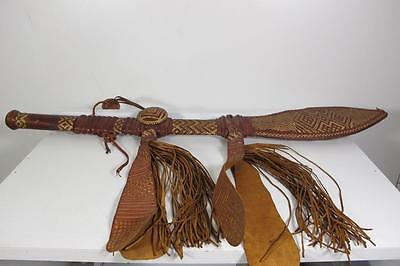 """Antique Africa African French Guinea Knife Sword Scabbard Sheath 26"""" Inches"""