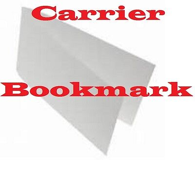 3- Carriers Sleeves Sheets For Laminating Pouches BOOKMARK   Size  2-3/8 x 9