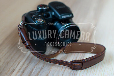 BROWN PU LEATHER Camera Wrist Strap - Vintage strap for all camera