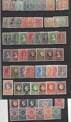 MONTENEGRO CRNA GORA 60 STAMPS USED:UNUSED 1880-1918 with unissued sets RR!!