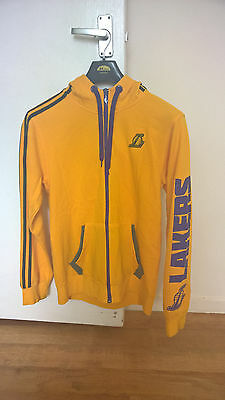 lakers yellow adidas Hoodie size M