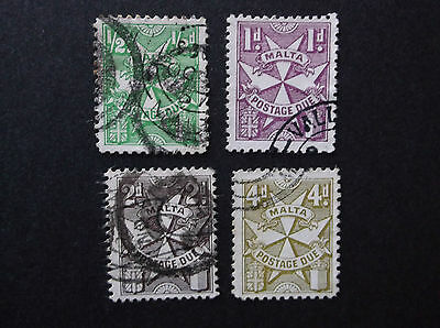 stamps MALTA 1967 POSTAGE DUES SET OF 4 STAMPS USED