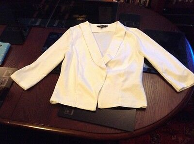 Girls White Jacket With Three Qtr Sleeves From New Look Age 12-13 Years