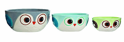 13071 Snowy Owl Wintry Fun Kitchen Party Bowls Christmas Holiday Prep Snack Dip