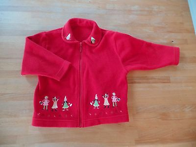 Marks and Spencer Girls Red Fleece, Age1 1/2-2yrs
